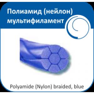 Полиамид (нейлон) мультифиламент - крученый, плетеный синий